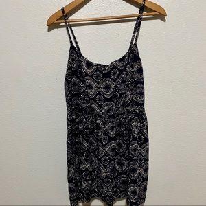Roxy Black/Cream Patterned Mini Dress